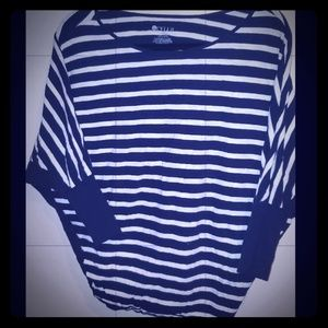 Women's STYLUS batwing blouse size M stripped